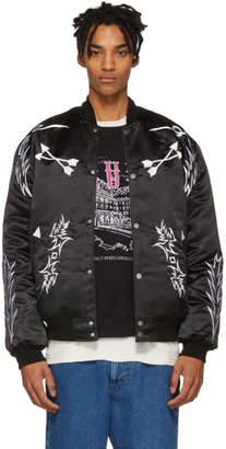 Rhude Black Embroidered Bomber Jacket