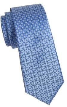 Tile Print Silk Tie