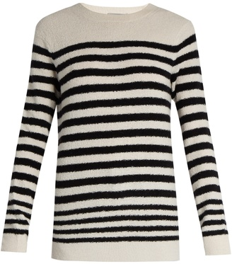 VINCE Striped wool-blend sweater $345 thestylecure.com