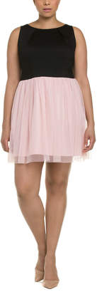 BB Dakota Plus Mesh A-Line Dress