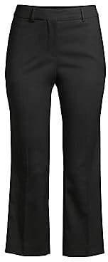 Burberry (バーバリー) - Burberry Women's Bedmond Stretch Virgin Wool Crop Trousers