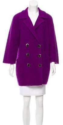 Oscar de la Renta Wool-Blend Double-Breasted Coat