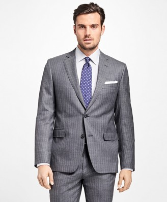Brooks Brothers Regent Fit Textured Alternating Stripe 1818 Suit