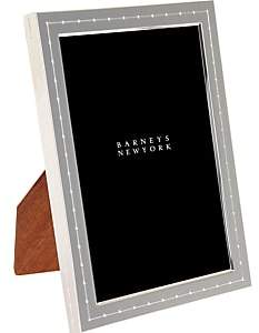 "Barneys New York Dotted Silver-Plate 4"" x 6"" Picture Frame - Silver P"