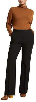 Marina Rinaldi Plus Size Straight-Leg Wool Crepe Trousers