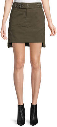 Helmut Lang Belted Military Patch Mini Skirt