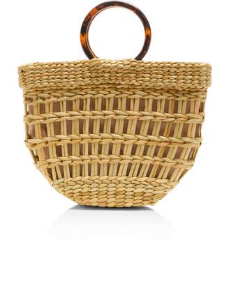 Poolside Bec Straw Top Handle Bag