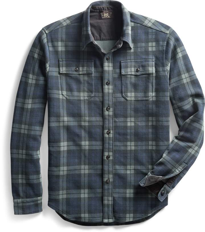Ralph Lauren Plaid-Print Knit Workshirt