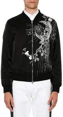 Alexander McQueen Velvet Bomber Jacket w/Embroidery