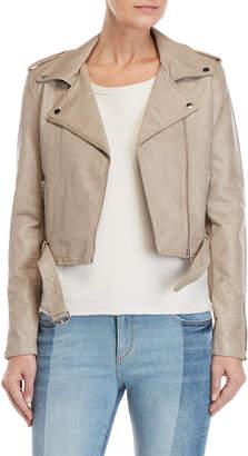 Romeo & Juliet Couture Romeo + Juliet Couture Faux Leather Moto Jacket