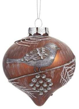 Glucksteinhome Holiday Charms Hand-Painted Onion-Shaped Glass Ornament