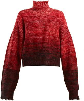 Helmut Lang High-neck wool-blend degradé sweater