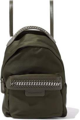 Stella McCartney Chain And Faux Leather-Trimmed Shell Backpack