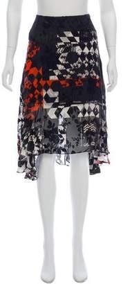 Preen by Thornton Bregazzi Printed Knee-Length Skirt