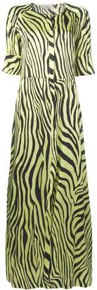 Laneus zebra print maxi dress