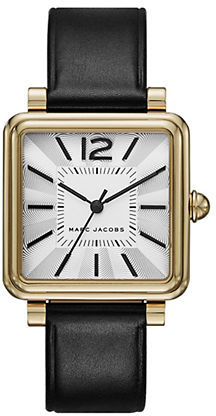 Marc Jacobs Marc Jacobs Leather and Goldtone Watch