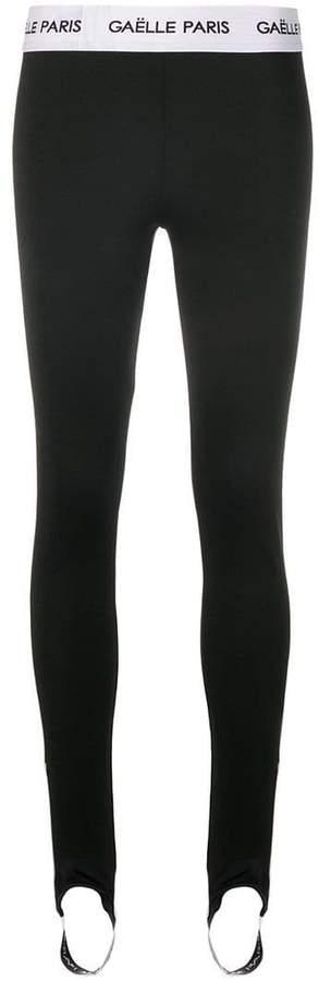 waistband logo stirrup leggings