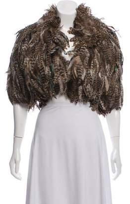 Fur Feather Bolero Brown Fur Feather Bolero