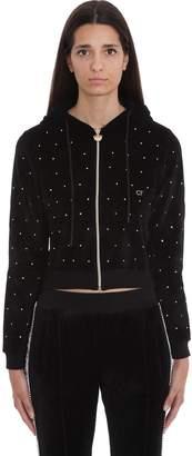 Chiara Ferragni Sweatshirt In Black Chenille