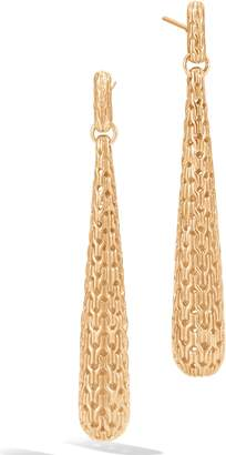 John Hardy Classic Chain 18K Gold Drop Earrings