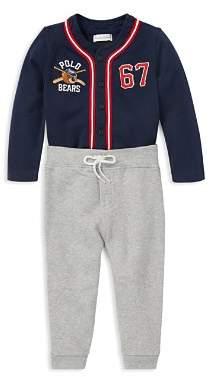 Polo Ralph Lauren Ralph Lauren Boys' Polo Bear Baseball Jersey & Sweatpants Set - Baby