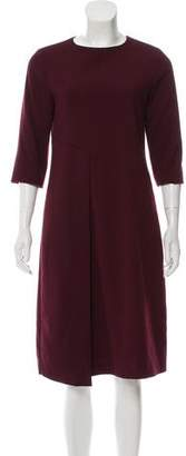 Valentino Three-Quarter Sleeve Midi Dress