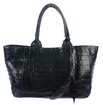 Nancy Gonzalez Crocodile Shoulder Tote