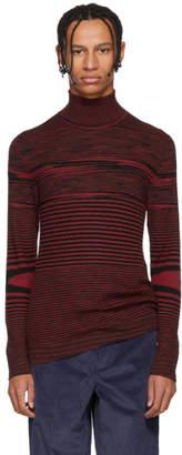 Missoni Red Striped Mock Neck Sweater