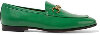 Gucci Jordaan Horsebit-detailed Leather Loafers