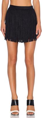 BB Dakota Barton Fringe Skirt $70 thestylecure.com