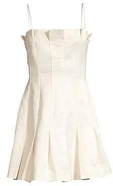 AMUR Women's Joy Linen-Blend Slip Dress