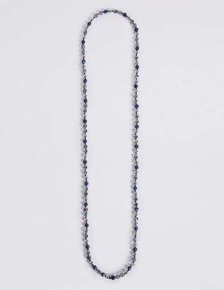 Marks and Spencer Cube & Pearl Effect Long Rope Necklace