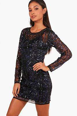 boohoo NEW Womens Boutique Embellished Bodycon Dress in Polyester