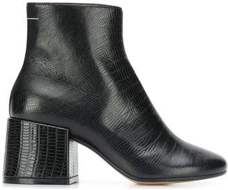 MM6 MAISON MARGIELA chunky heel ankle boots