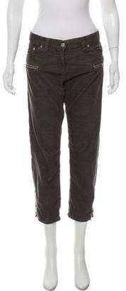 Etoile Isabel Marant Mid-Rise Straight-Leg Cargo Pants
