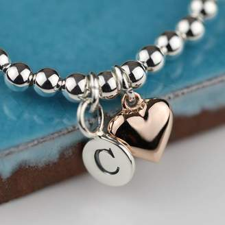 bf3e692c36a Nest Personalised Rose Gold Heart Friendship Bracelet