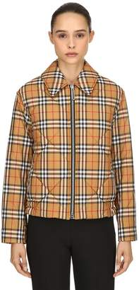 Burberry Padded Vintage Check Bomber Jacket