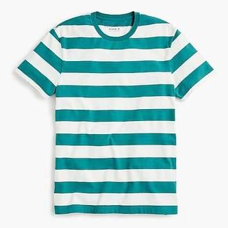 J.Crew Mercantile Broken-in T-shirt in turquoise stripe
