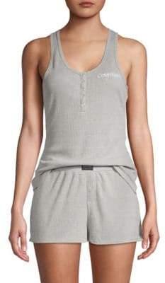 Calvin Klein Two-Piece Sleeveless Top & Shorts Pajama Set