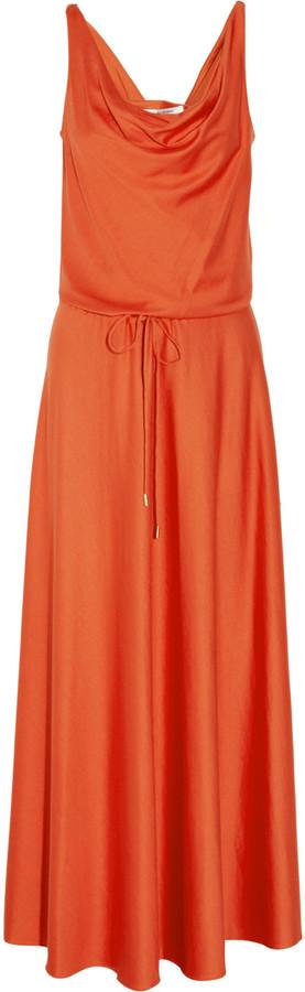 Diane von Furstenberg Tadd silk-blend jersey maxi dress