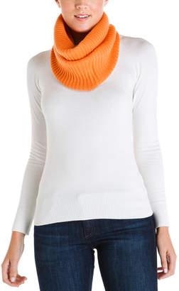 Portolano Orange Cashmere Ribbed Knit Snood