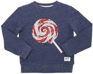 Candy Sequined Cotton Sweatshirt