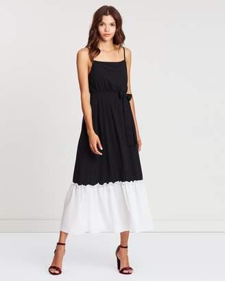 Atmos & Here Christie Contrast Pleat Dress