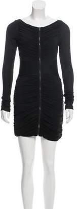 Rag & Bone Ruched Zip-Up Dress