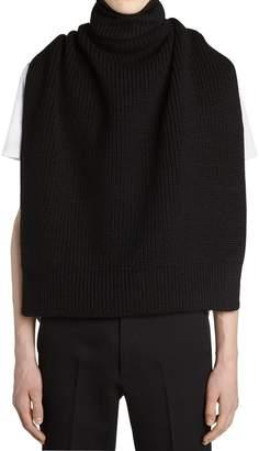 Raf Simons Wool Knit Turtleneck Vest W/ Patches