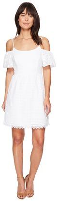kensie - Eyelet Dots Dress KS4K7683 Women's Dress $89 thestylecure.com