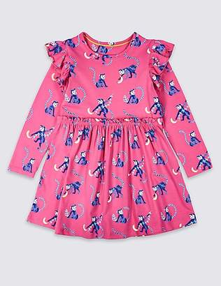 Marks and Spencer Cotton Dress with Stretch (3 Months - 7 Years)
