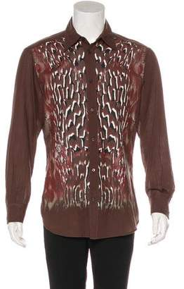 Just Cavalli Abstract Print Button-Up Shirt