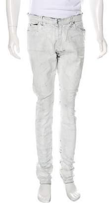 Maison Margiela Cracked Painted Skinny Jeans