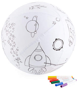 Seedling Color the Galaxy Kit - Inflatable Fabric Galaxy Ball & Marker Set